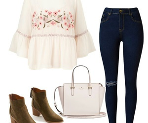 chic, clothes, and floral image