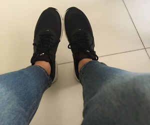 air max, black, and jeans image