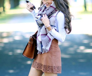 fall, outfit, and skirt image