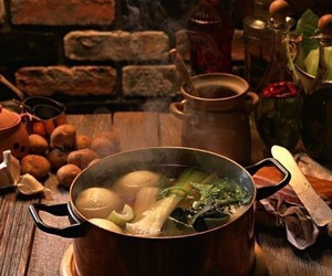 food, medieval, and soup image