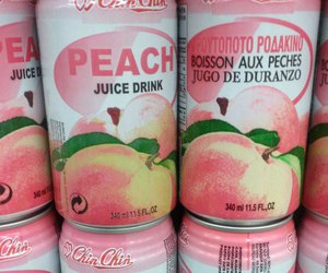 pink, peach, and drink image