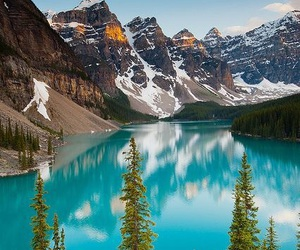 canada, lake, and mountains image