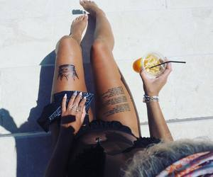 drink, Tattoos, and crown tattoo image