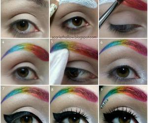makeup, rainbow, and tutorial image