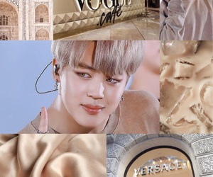 aesthetic, gold, and v image