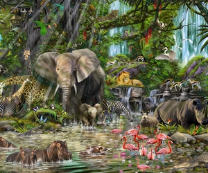 animals and jungle image