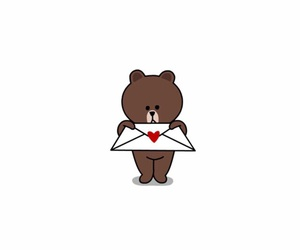 bear, brown, and Letter image