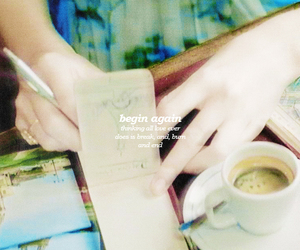 Taylor Swift, begin again, and coffee image