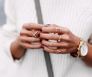 fashion, watch, and rings image