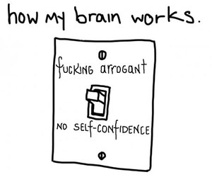 brain, funny, and obsessed image