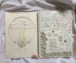 aesthetic, journal, and pale image