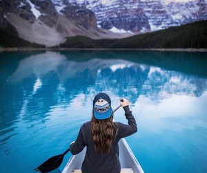 blue, mountains, and nature image