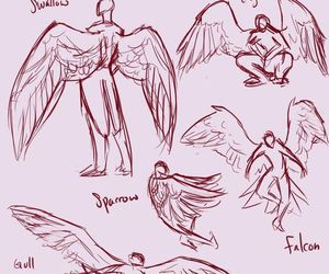 drawing, wings, and art image