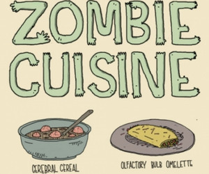 zombie, food, and brain image