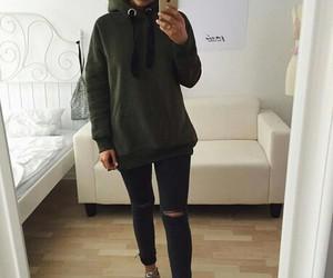 fashion, girl, and hoodie image