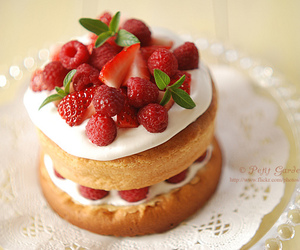 cake, cream, and delicious image