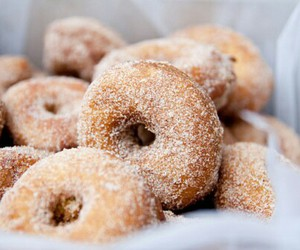 delicious, sugar, and donuts image