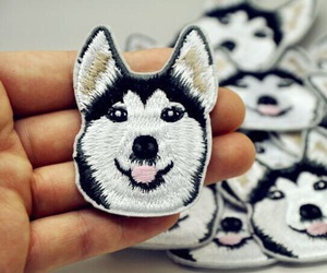art, huskies, and embroidery image