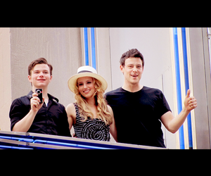 cory monteith, dianna agron, and chris colfer image