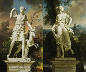 art, classical, and diana image