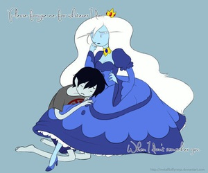 ice queen, adventure time, and marshall lee image