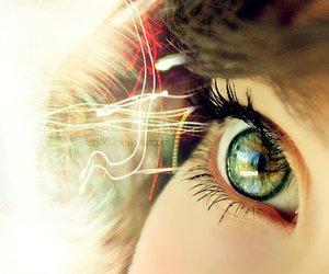 eye, girl, and photography image