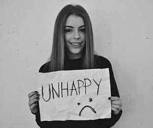 girl and unhappy image