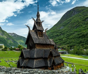 autumn, church, and norway image