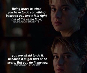 brave, courage, and divergent image