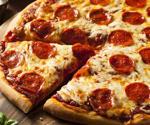 pizza and pepperoni image