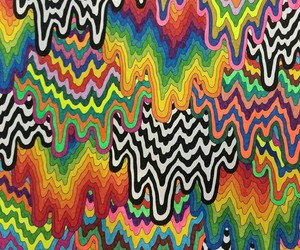 background, pattern, and rainbow image