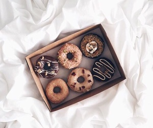 delicious, chocolate, and donut image