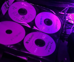 purple, aesthetic, and cd image
