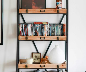 books, home, and home decor image