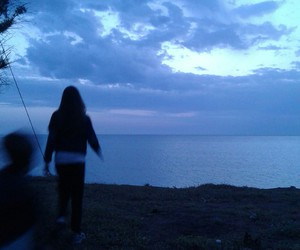 beautiful, by the sea, and purple image