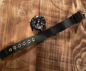 etsy, leather watch band, and 20mm watch strap image