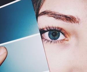 blue, girl, and eyes image
