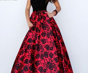 sherri hill 50245, dress, and floral printed dress image