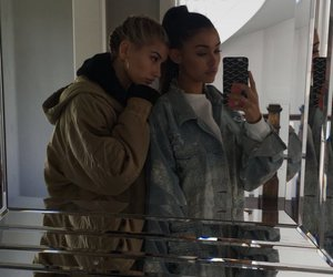 madison beer, hailey baldwin, and friends image