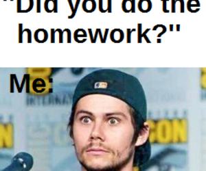 homework, school, and teen wolf image