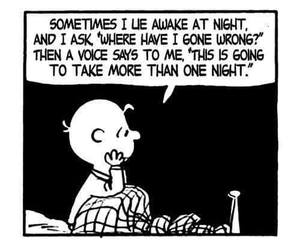 charlie brown, night, and quotes image