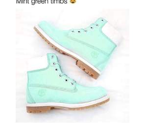 boots, mint, and timberland image