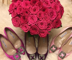 beauty, lux, and manolo blahnik image