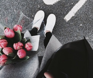 flowers, style, and outfit image