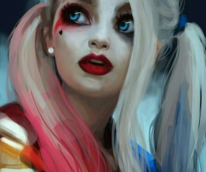 art, harley quinn, and suicide squad image