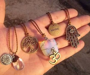 necklace, karma, and indie image