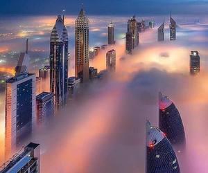 Dubai and clouds image