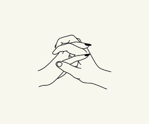 couples, draw, and hands image
