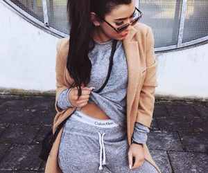 Calvin Klein, girl, and outfit image