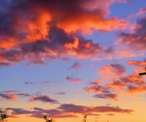 clouds, sunset, and pretty image